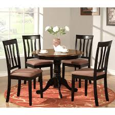 east west furniture anti antique round table dining set with