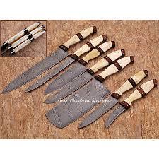 handmade kitchen knives for sale custom handmade damascus steel splendid kitchen knives set of 7