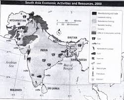 South India Map by South Asia India
