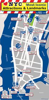 tourist map of new york tourist map of new york city printable major nyc