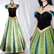 movie cosplay costume professional frozen anna dress frozen party