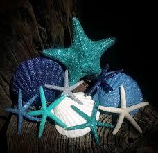 fall coastal ornaments copper topaz glitter sparkle sea