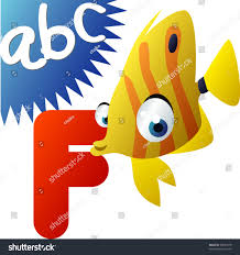 abc animals f fish stock vector 69844918 shutterstock