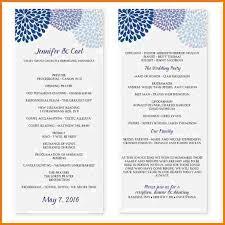 wedding program templates word microsoft word program template authorization letter pdf