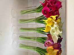 fine silk flowers faux calla lilies bundle 9 stems bundle