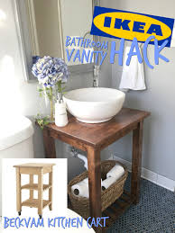 ikea hack bathroom vanity with bekvam kitchen cart the handy