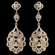 chandelier wedding earrings light gold clear rhinestone chandelier bridal wedding earrings 8685