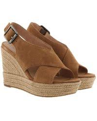 ugg s anais shoes chestnut lyst shop s ugg wedges from 45 page 4