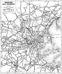 Map Boston 1937 Boston Area Highway Map