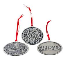 risd store sted pewter risd seal ornaments