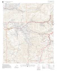 New Mexico Topographic Map by Cloud Climbing Trestle Trail Sacramento Ranger District