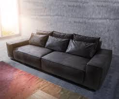 sofa anthrazit big sofa sirpio 270x125 cm anthrazit vintage kedernaht möbel sofas