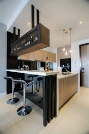 House Design With Kitchen Modern Kitchen Design With Integrated Bar Counter For A Small