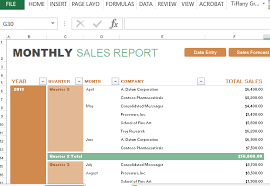 Excel Sales Templates Sales Forecast Template Powerpoint Monthly Sales Report And