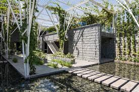 vegetable trellis architect magazine cong sinh architects ho
