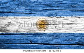argentina argentine flag painted on old stock photo 113072704
