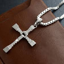 men cross necklace images Viout men 39 s pure silver cross necklace fast furious jpg
