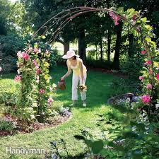 how to build a trellis archway build a garden archway family handyman