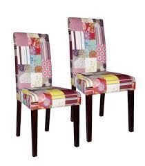 Esszimmerstuhl Textil Shopthewall Design Patchwork Stuhl Ibiza Mehrfarbig Textil Mit