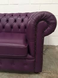 used chesterfield sofa lovely purple leather chesterfield sofa 2 seater aherns furniture