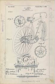 patent drawing for j j hentz u0027 bicycle