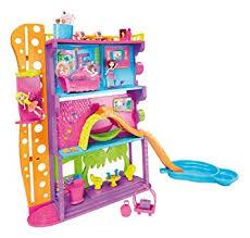 amazon polly pocket spin u0027n surprise hotel playset toys u0026 games