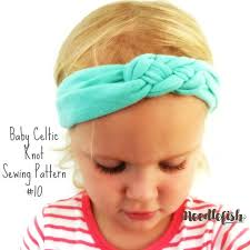 knotted headband baby knot headband sewing pattern celtic knot headband