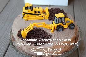 our son u0027s first birthday paleo construction cake the unrefined