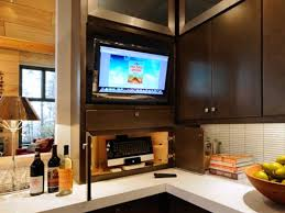 tv in kitchen ideas small flat screen tv for kitchen kitchen design