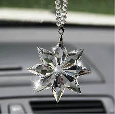 high grade snowflake car pendant car rearview mirror