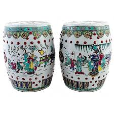 pair of antique chinese ceramic garden stools for sale at 1stdibs