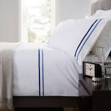 norman hartnell kensington duvet cover set in white and navy