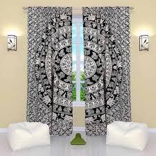 style curtains on sale boho mandala door curtains drapes