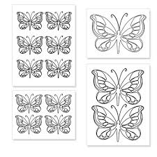 printable butterfly shapes from printabletreats com shapes and