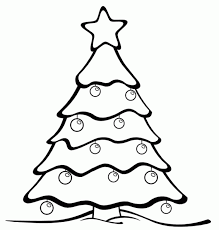christmas tree coloring pages kids coloring