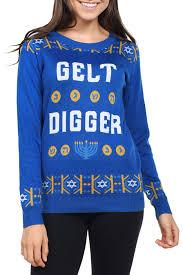 hannukah sweater women s gelt digger hanukkah sweater tipsy elves