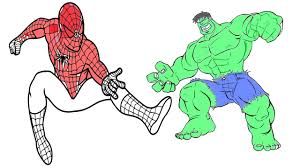 coloring pages spiderman vs hulk coloring book for kids youtube