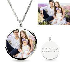 photo engraved necklace personalized photo engraved necklace