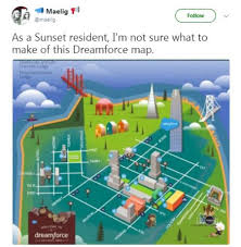Sf Crime Map Twitter Users Poke Fun At Dreamforce Map Of Sf After Several