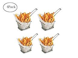 jeux de cuisine frite acier inoxydable français frites panier cuisine outil jeu de 4pc de