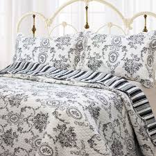 french medallion black u0026 white scroll bedding full queen king