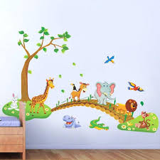 stickers muraux pour chambre stickers deco chambre bebe stickers animaux jungle et savane