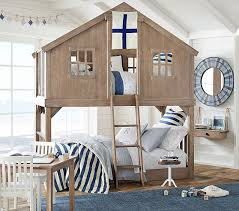 pottery barn tree house twin over twin bunk bed pottery barn kids