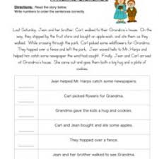 ideas of sequencing worksheets 4th grade with letter