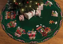 felt christmas tree skirt kit christmas lights decoration