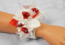 wrist corsage bracelet white pearl stretchable wrist corsage bracelet corsage