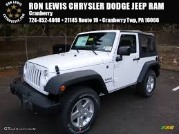 white jeep 2016 2016 bright white jeep wrangler sport 108921782 gtcarlot com