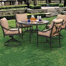 Ultimate Patio Furniture by Caluco Origin 4 Person Cast Aluminum Patio Dining Set With Glass