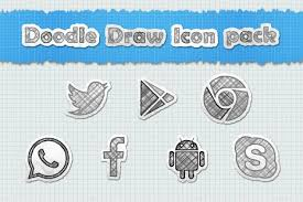 play doodle draw doodle draw b w icon pack android apps on play
