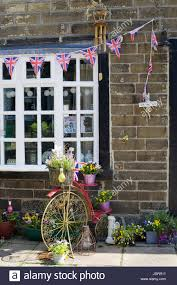 garden ornaments union bunting and farthing with